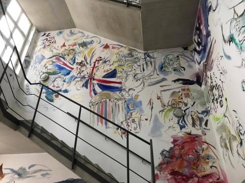 »Installation view: Sophie von Hellermann Stufen zur Kunst - Sophie von Hellermann, Kunstverein Hannover, Hannover«, 2017<br /><br />