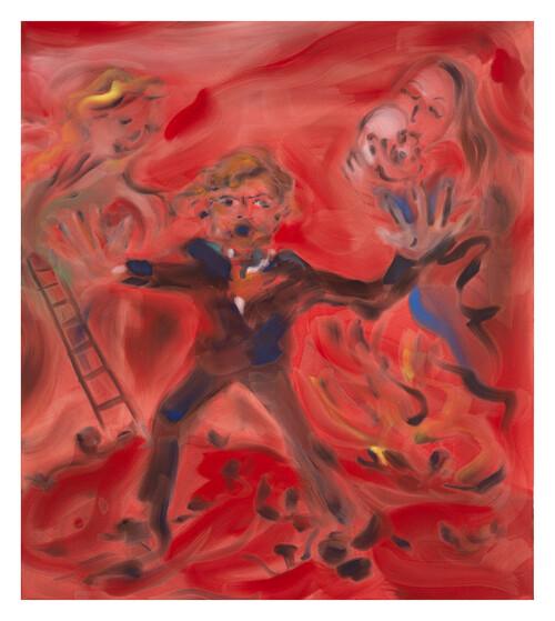 <i>Strindberg</i>,       2020<br />      acrylic on canvas,        160 x 140 cm<br />