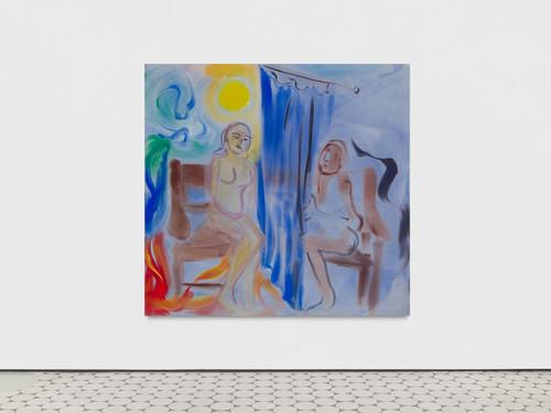 <i>Bank Holiday Monday</i>,       2019<br />      acrylic on canvas,        190 x 200 cm<br />