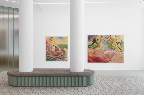 <i>Installation view, Swirls and Circles at Wentrup, Berlin</i>,       2019<br />             <br />