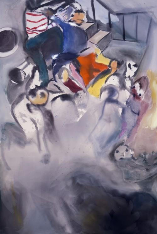 »Albatross«, 2006<br />acrylic on canvas, 300 x 200 cm<br />
