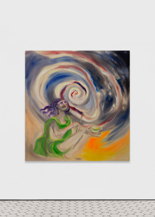 <i>Urania</i>,       2019<br />      acrylic on canvas,        200 x 190 cm<br />