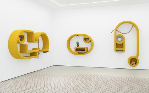 <i>Installation view Jene, Wentrup, Berlin, Germany, 2019</i>,       <br />             <br />