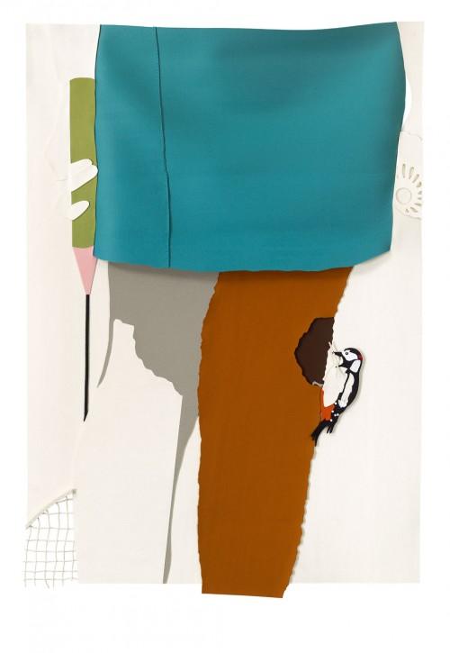 »Federball«, 2012<br />felt, 194 x 133 cm<br />