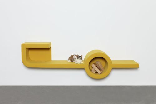 <i>fireplace 9 & misfit (cat/ rabbit)</i>,       2016<br />             <br />      Installation view, Philara / Düsseldorf, Germany, 2017
