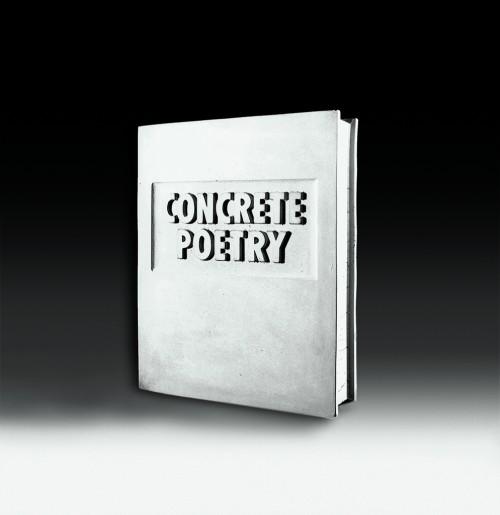 »Concrete Poetry (Beton Buch)«,       1972/1977<br />      concrete,        30 x 25 x 6.5 cm<br />