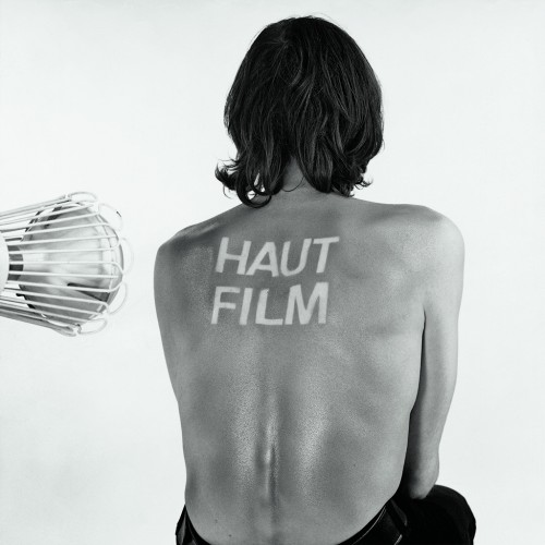 »Haut-Film«,       1966/1969<br />      photogram, black white photography,        100 x 100 cm<br />      tanning of human skin as a cinematic prozess