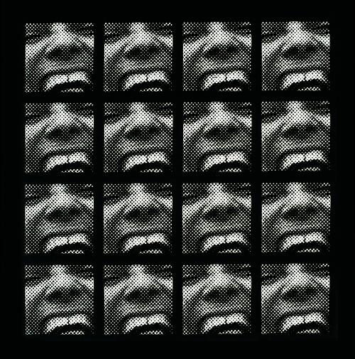 <i>Serielles Raster-Bild</i>,       1962/63<br />      silkscreen,        103 x 103 cm<br />