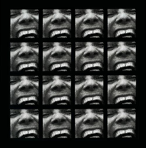 »Serielles Raster-Bild«,       1962/63<br />      silkscreen,        103 x 103 cm<br />