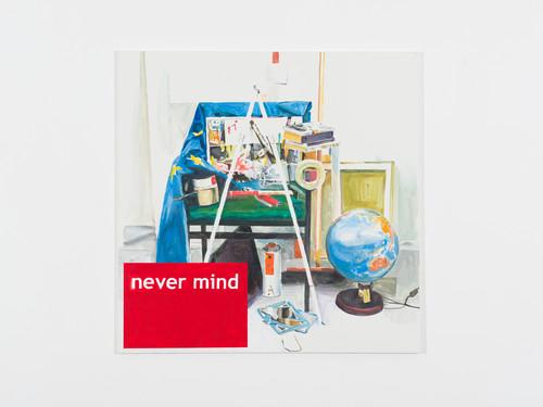 <i>Never Mind</i>,       2013<br />      Acrylic on canvas,        140 x 140 cm<br />