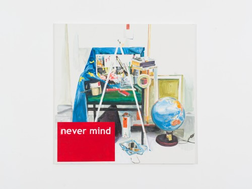 »Never Mind«, 2013<br />Acrylic on canvas, 140 x 140 cm<br />