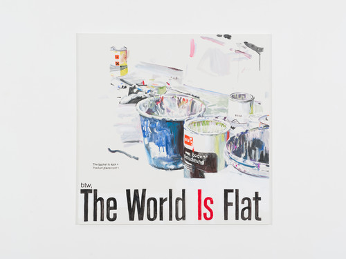 <i>The World is flat</i>,       2013<br />      Acrylic on canvas,        140 x 140 cm<br />