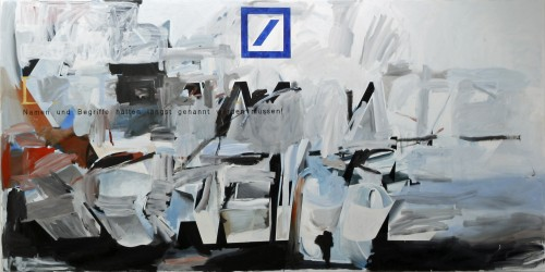 »Die letzte Warnung«, 2008<br />Acrylic on canvas, 300 x 600 cm<br />