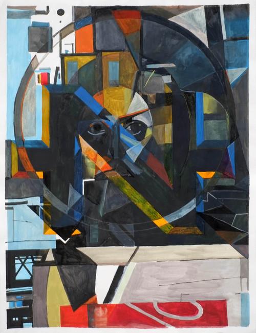 <i>demiurg</i>,       2015<br />      gouache on paper,        65 x 50 cm<br />