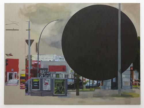 <i>Black hole</i>,       2010<br />      Gouache ink on canvas,       <br />