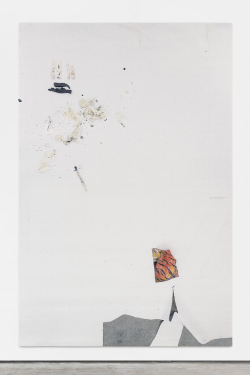 »eye/eyes (Marc)«, 2016<br />carpet, jesmonite, pigments, oil stick, 300 x 200 cm<br />