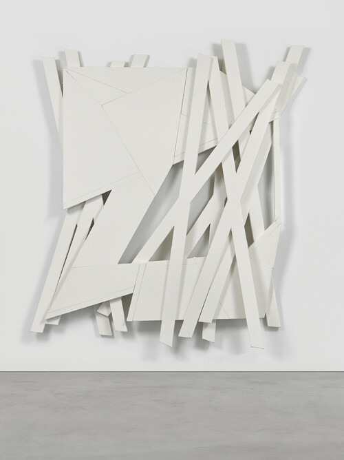 WYATT KAHN<br /><i>Untitled</i>, 2021<br />Linen on linen on panel, 223 x 203 cm<br />