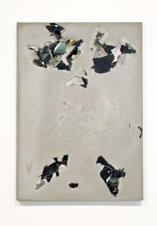 PELES EMPIRE<br /><i>FGX3</i>, 2013<br />cement and paper, 42 x 29.7 cm<br />