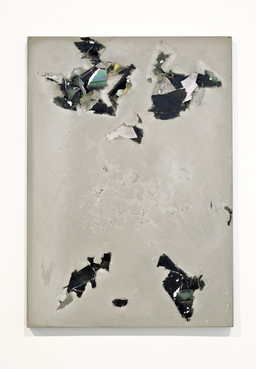 PELES EMPIRE<br />»FGX3«, 2013<br />cement and paper, 42 x 29.7 cm<br />