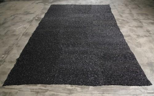GREGOR HILDEBRANDT<br />»Klangteppich«, 2008<br />audio tape, 374 x 244 cm<br />