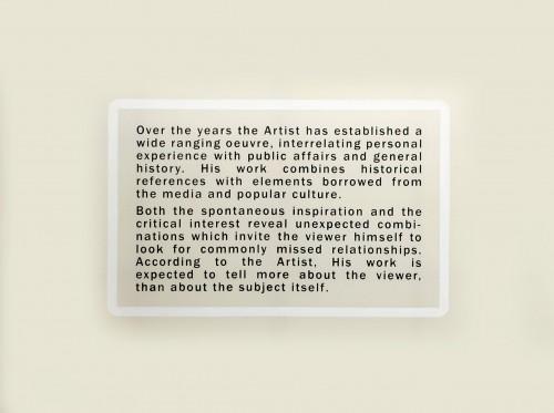 WAWRZYNIEC TOKARSKI<br />»Artist«, 2008<br />Acrylic on untreated cotton, 300 x 400 cm<br />