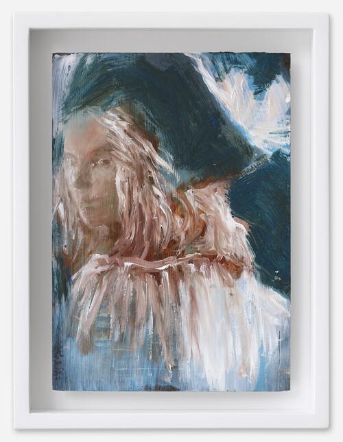 <i>Alison</i>, 2021<br />oil on postcard, 18 x 13,5 cm (framed)<br />
