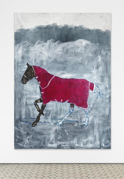 <i>galoppierendes Pferd</i>, 2021<br />oil on canvas, 280 x 200 cm<br />