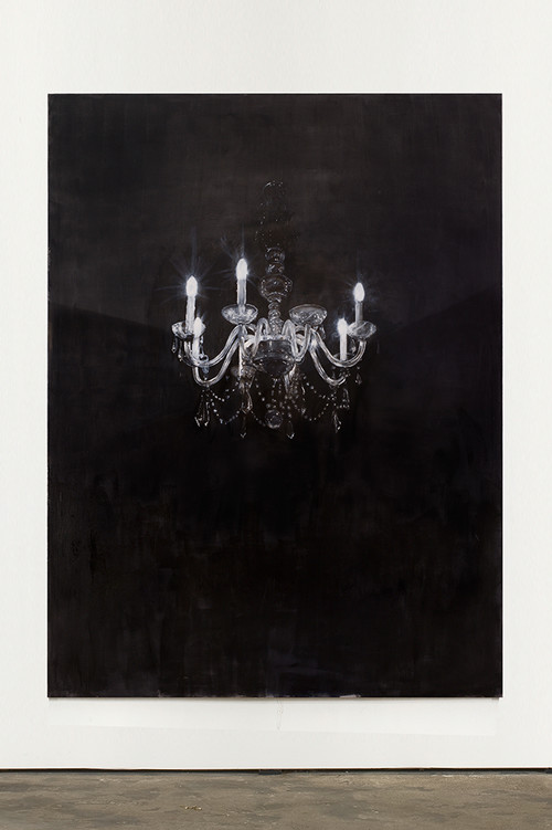 <i>Chandelier 4</i>, 2013<br />oil paint on canvas, 240 x 180 cm<br />