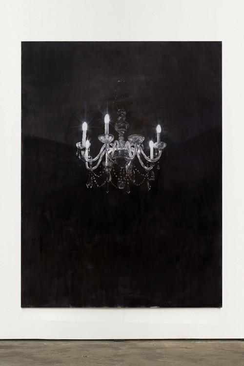 »Chandelier 4«, 2013<br />oil paint on canvas, 240 x 180 cm<br />