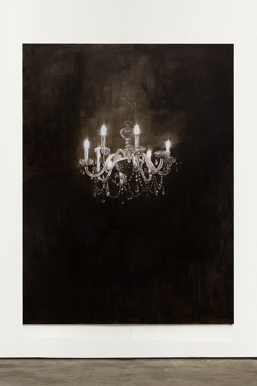 <i>Chandelier 5</i>, 2013<br />oil paint on canvas, 240 x 180 cm<br />