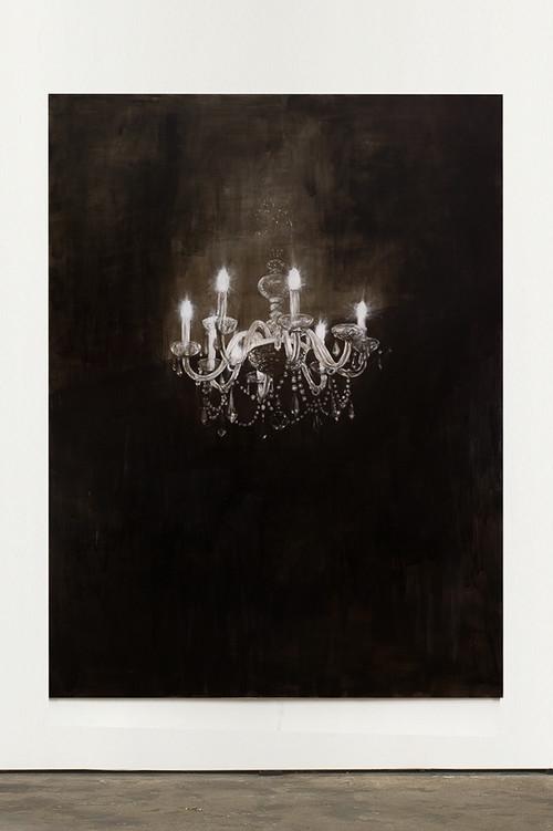 »Chandelier 5«, 2013<br />oil paint on canvas, 240 x 180 cm<br />