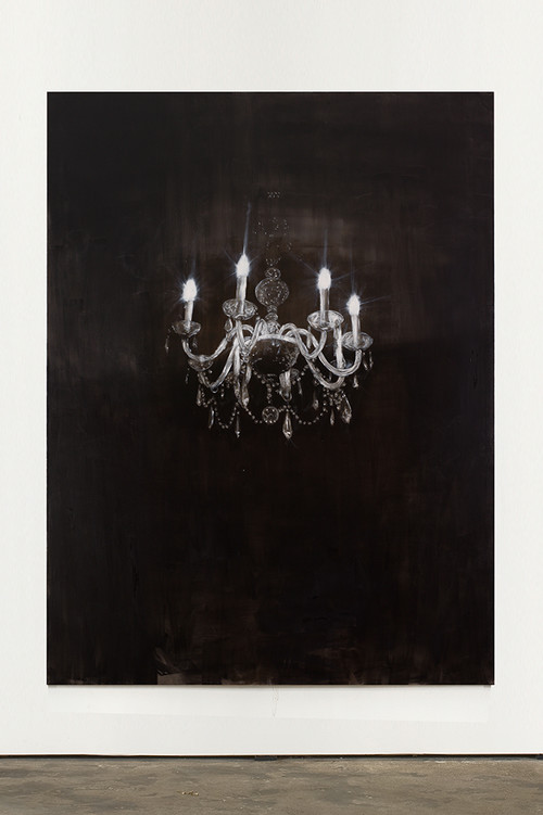 <i>Chandelier 1</i>, 2013<br />oil paint on canvas, 240 x 180 cm<br />