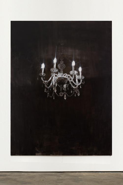 »Chandelier 1«, 2013<br />oil paint on canvas, 240 x 180 cm<br />