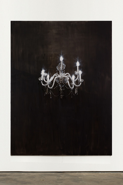 <i>Chandelier 2</i>, 2013<br />oil paint on canvas, 240 x 180 cm<br />