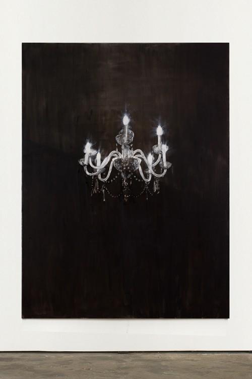 »Chandelier 2«, 2013<br />oil paint on canvas, 240 x 180 cm<br />