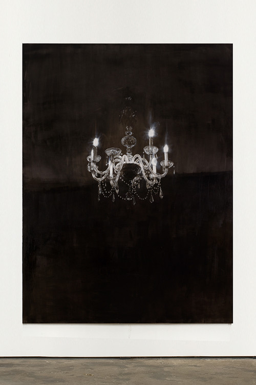 »Chandelier 3«, 2013<br />oil paint on canvas, 240 x 180 cm<br />