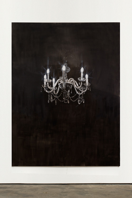 <i>Chandelier 7</i>, 2013<br />oil paint on canvas, 240 x 180 cm<br />