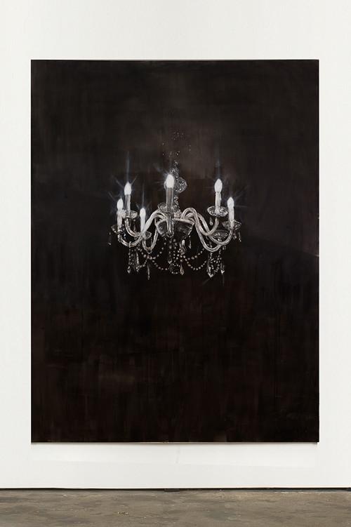 »Chandelier 7«, 2013<br />oil paint on canvas, 240 x 180 cm<br />