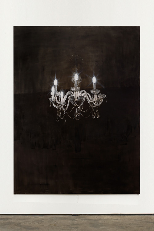 <i>Chandelier 6</i>, 2013<br />oil paint on canvas, 240 x 180 cm<br />