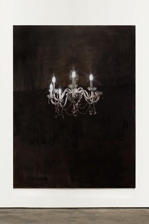 »Chandelier 6«, 2013<br />oil paint on canvas, 240 x 180 cm<br />