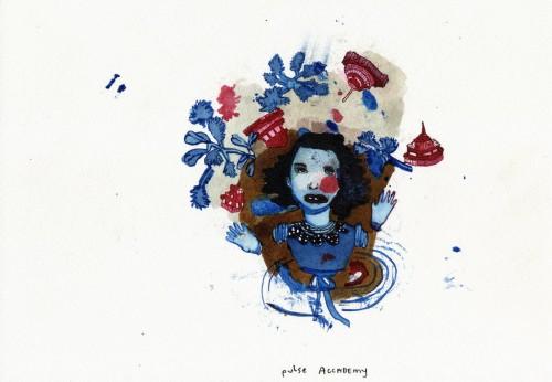 CHRISTINE REBET<br />»Pulse academy«, 2006<br />ink on paper, 23 x 30 cm<br />