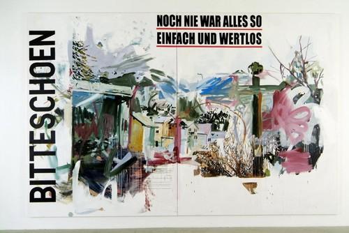 »Bitteschoen«, 2007<br />acrylic on canvas, 300 x 470 cm<br />