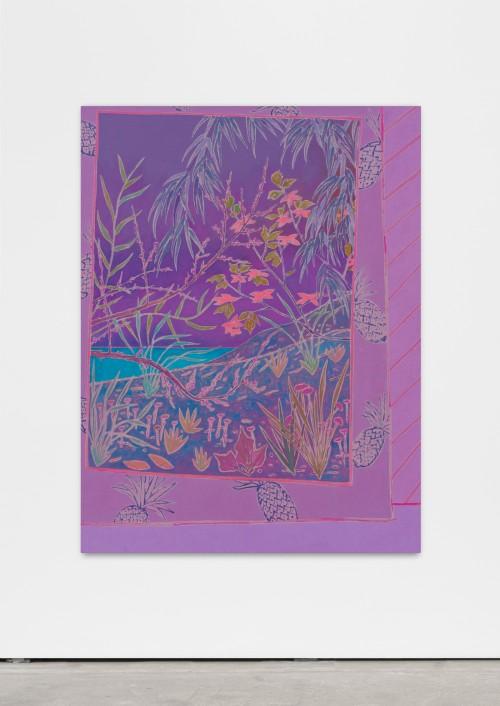 »sea shines softly«, 2016<br />oil on canvas, 150 x 115 cm<br />