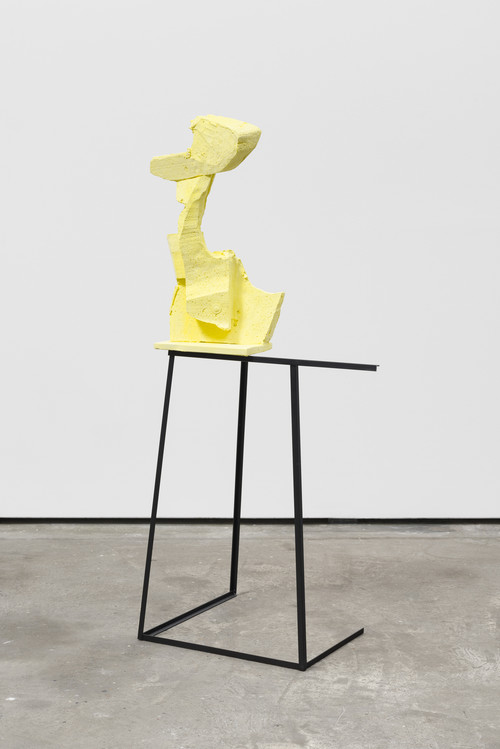 <br /><i>Yellow</i>, 2016<br />Steel, ceramics, pigments, paint, 135 x 62 x 42 cm<br />