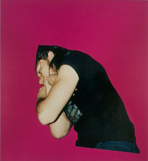 STEVEN SHEARER<br /><i>Sleeper</i>, 2007<br />photolaminate, acrylic on canvas, 137 x 128 cm<br />