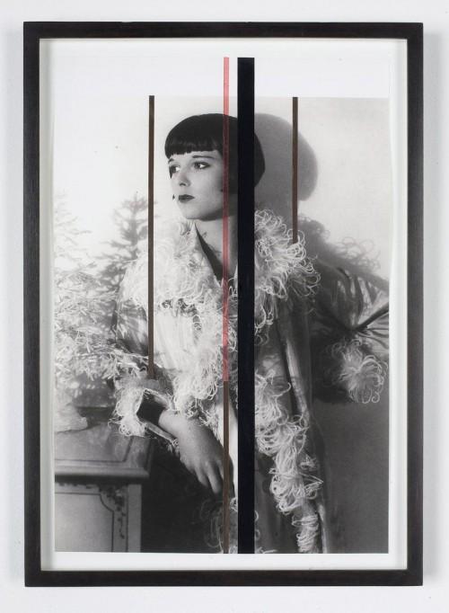 »L.B. Blume«, 2008<br />cassette tape, video tape on ink jet print, 40 x 30 cm<br />