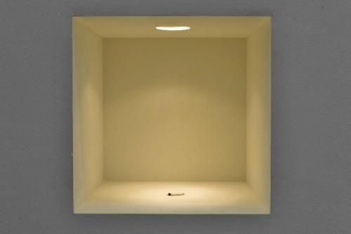 »Rauch«, 2009<br />cigarette butt, 33 x 33 x 33 cm<br />