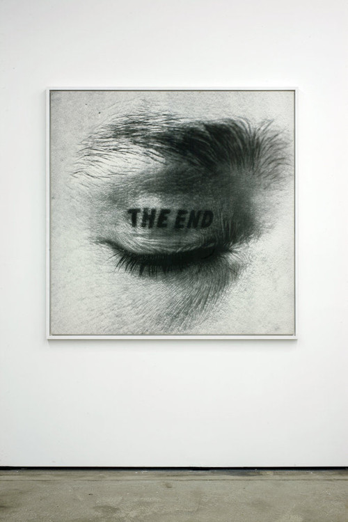 <i>The End</i>, 1981<br />ink jet print on canvas, 150 x 150 cm<br />
