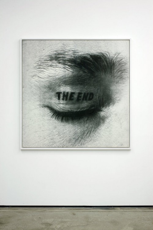 »The End«, 1981<br />ink jet print on canvas, 150 x 150 cm<br />