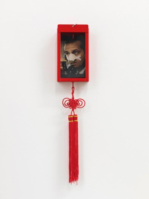»Nasenaltar«, 2008<br />mixed media, 45 x 9 x 5 cm<br />